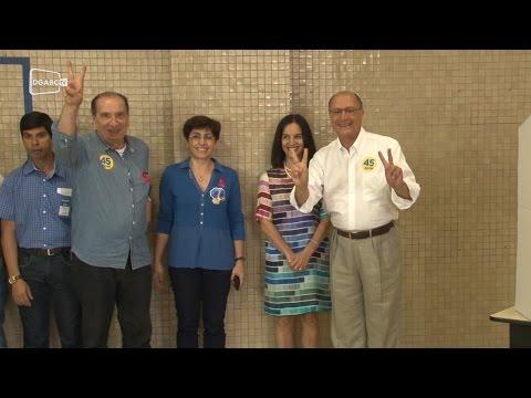Alckmin deposita confiança em Aécio no segundo turno