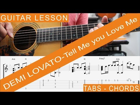 Tell Me You Love Me Guitar Tutorial by Demi Lovato // Tell Me You ...
