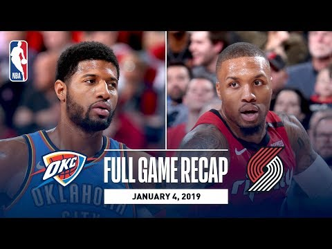 Video: Full Game Recap: Thunder vs Trail Blazers | Paul George and Russell Westbrook Combine For 68 Points
