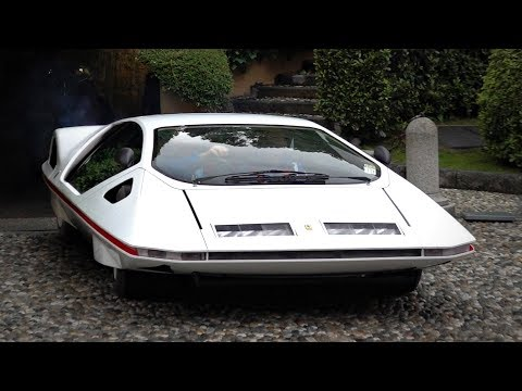 Ferrari 512 S Modulo Pininfarina CRAZY 70s Concept In Action! - Start Up, Driving & Exhaust Sounds!