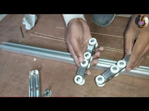 Sliding doors में! channel कैसे लगाते हैं? // How do the sliding doors channel install sliding door