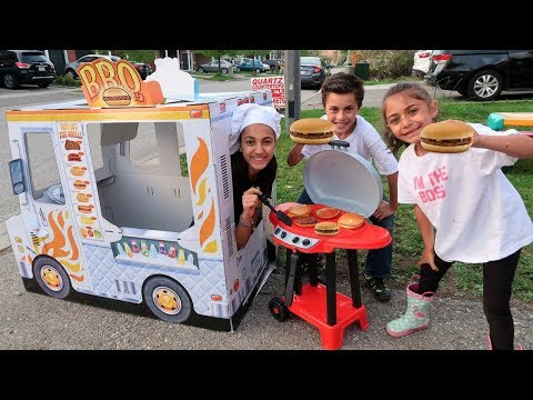 Kids Play Cooking With BBQ Grill Toy