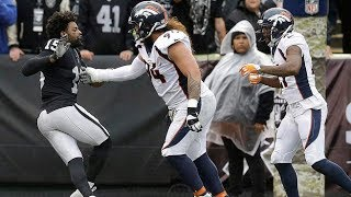 Michael Crabtree vs. Aqib Talib Fight | Broncos vs. Raiders | NFL