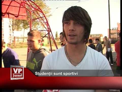 Studenții sunt sportivi