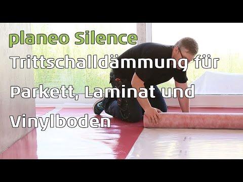 Trittschalldämmung für Parkett, Vinyl und Laminat - planeo silence