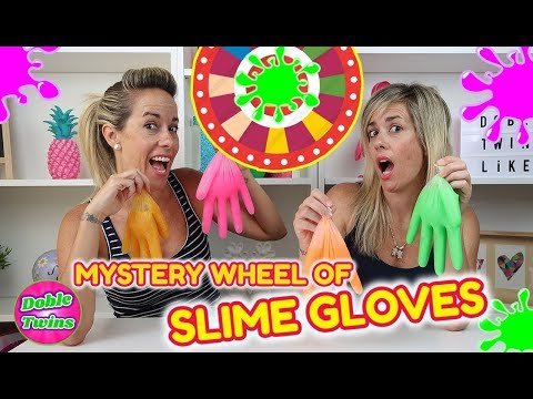 MYSTERY WHEEL OF SLIME GLOVE CHALLENGE!! RULETA MISTERIOSA DE SLIME CON GUANTES!!