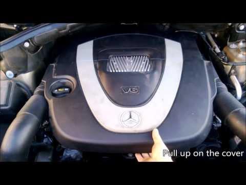 DIY: Mercedes Benz 3.5L V6 air filter replacement (10min job)