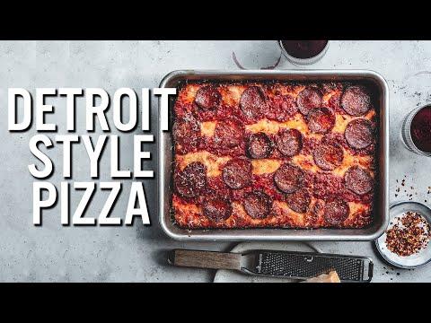 Sourdough Detroit Style Pizza - The Boy Who Bakes