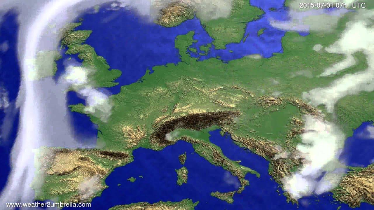 Cloud forecast Europe 2015-06-28