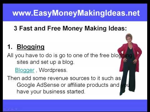 money making - http://www.EasyMoneyMakingIdeas.net When most of us decide that working for someone else stinks and we start our internet marketing career we do it with very...