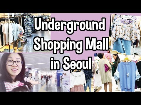 Shopping for Clothes at Express Bus Terminal's Underground Shopping Mall in Gangnam, Seoul, Korea