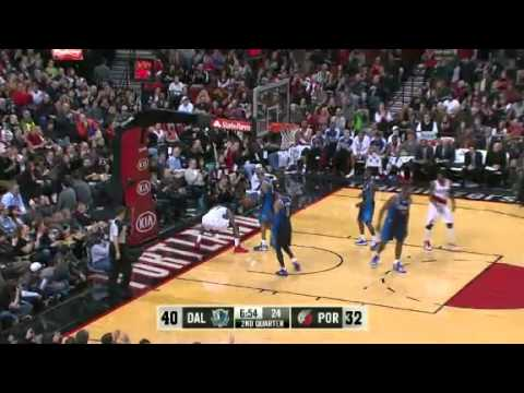 Damian Lillard to JJ Hickson for the dunk against Mavericks