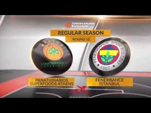 EuroLeague Highlights RS Round 12: Panathinaikos Superfoods Athens 81-70 Fenerbahce Istanbul