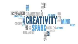 Simple word cloud Animation: Creativity
