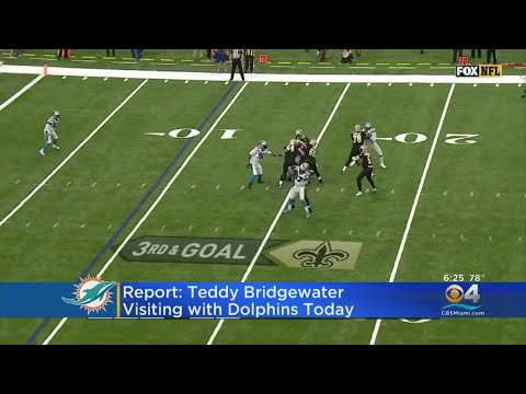 QB Teddy Bridgewater Visits With Dolphins