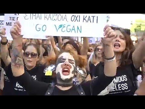 Διαδήλωση στην Αθήνα για τα δικαιώματα των ζώων