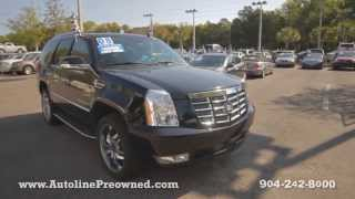 Autoline Preowned 2008 Cadillac Escalade For Sale Used Walk Around Review Test Drive Jacksonville