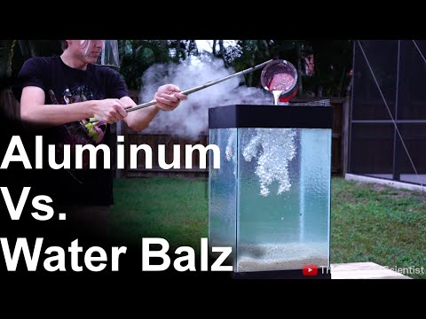 What Happens When You Pour Molten Aluminum Into A Tank Full Of Water Polymer
