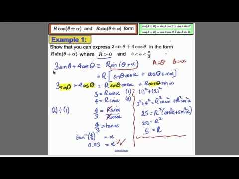 Trigonometrie (9) - L19 - Core 3 Edexcel Mathematik A-Level