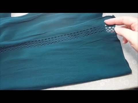 How To Hem Up Wide Leg Pants With Topstitching & Special Designer Detail