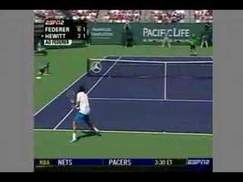 Hewitt Vs Federer - Epic Rally