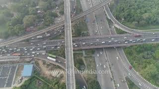 Video Dhaula Kuan over-flight - stunning view of New Delhi - looks super planned from the air MP3, 3GP, MP4, WEBM, AVI, FLV Oktober 2017