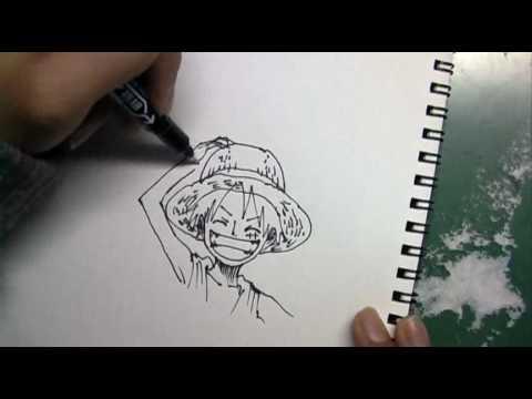 「わずか1:50で描ききる、モンキー・D・ルフィの早描き」のイメージ