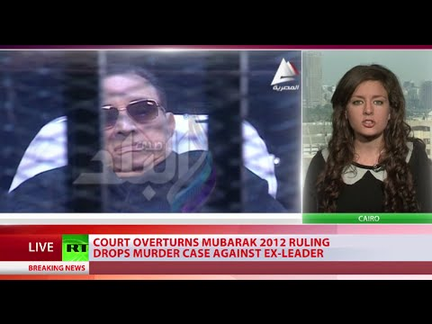 mubarak - An Egyptian court has dropped the murder charge against former leader Hosni Mubarak in relation to the deaths of protesters during the Arab Spring rallies th...