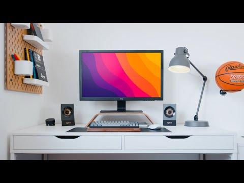 Modern Desk Setup Makeover (MESSY STUDENT)