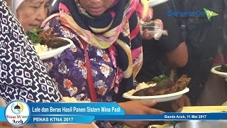 Pengunjung Penas KTNA Ditraktir Makan Hasil Panen Mina Padi