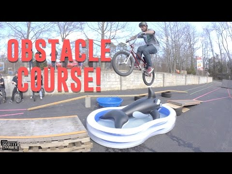 INSANE BIKE OBSTACLE COURSE! (видео)
