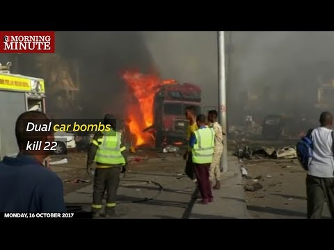 A huge truck bomb, followed by a smaller car bomb, exploded in Somalia's capital city of Mogadishu on Saturday.