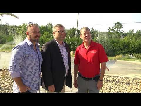 Inauguration des jeux d'eau à Sainte-Catherine-de-la-Jacques-Cartier
