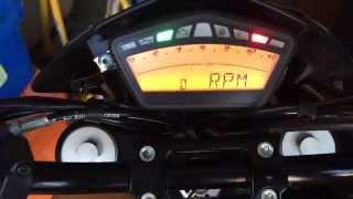 9. Hypermotard - How to set the time, reset trip, odo reset, rpm, light brightness, lap timer
