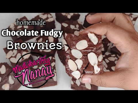 Chocolate Fudgy Brownies by mhelchoice Madiskarteng Nanay
