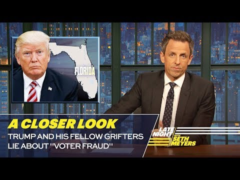 """Trump and His Fellow Grifters Lie About """"Voter Fraud"""""""