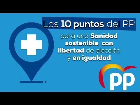Los 10 puntos del PP para una Sanidad mejor