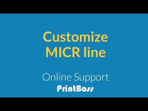 Customize MICR Line