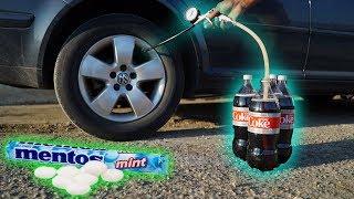 Video We Put COKE & MENTOS In a TIRE! MP3, 3GP, MP4, WEBM, AVI, FLV September 2018