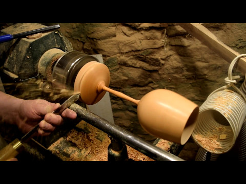 Woodturning A Wooden Goblet -- Full Sized