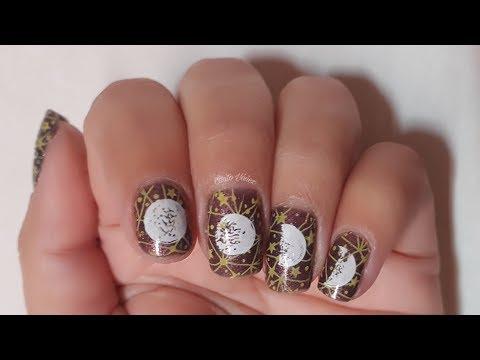 Diseños de uñas - #BeautyBigBang Diseño de uñas Fases de la luna #Tutorial