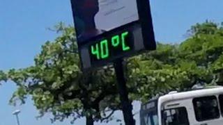 termômetros de Santos marcando altas temperaturas.... será uma prévia deste verão???