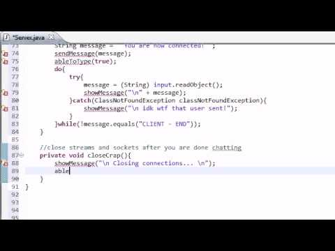 Intermediate Java Tutorial - 44 - Closing Down The Streams And Sockets
