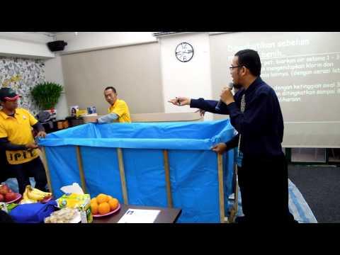 Cara pembuatan kolam ikan lele dari terpal. ^_^ Part-2