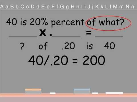 Percent - This video will give teachers a model to help them teach their own students how to solve percentage problems using reading skills. This video shows an easy w...
