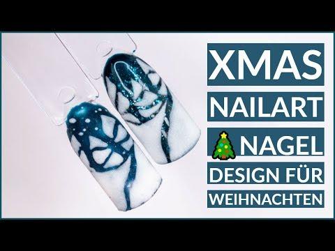 Christmas Nail Art  Nageldesign für Weihnachten  Schritt für Schritt Tutorial