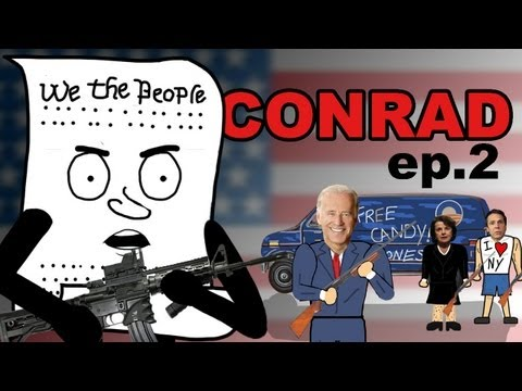Conrad - Episode 2: 2nd Amendment One month after Sandy Hook, Conrad the Constitution is visited by Joe Biden, Dianne Feinstein, and Andrew Cuomo to talk about the 2n...