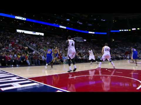 Video: Korver, Curry, and Thompson Prepare for the 3-Point Contest