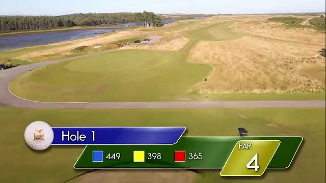 Carnegie Links Hole 1 - YouTube video