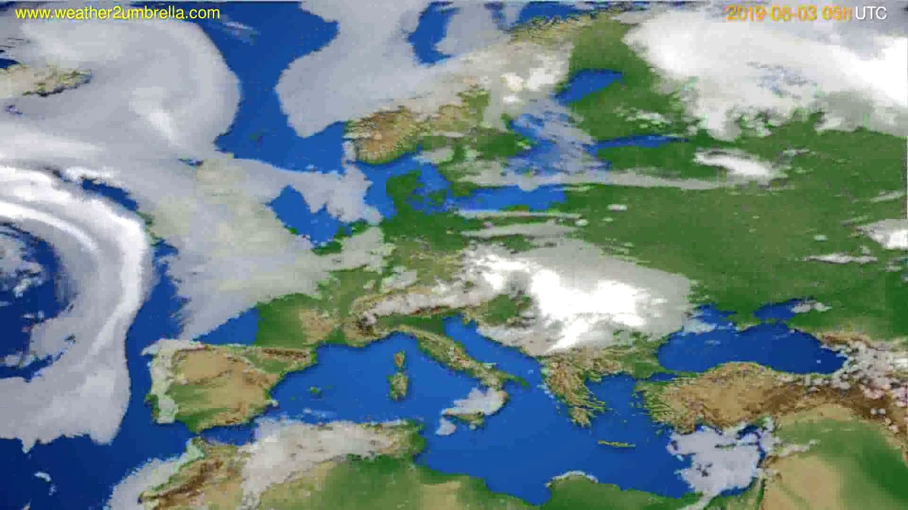 Cloud forecast Europe // modelrun: 12h UTC 2019-07-31